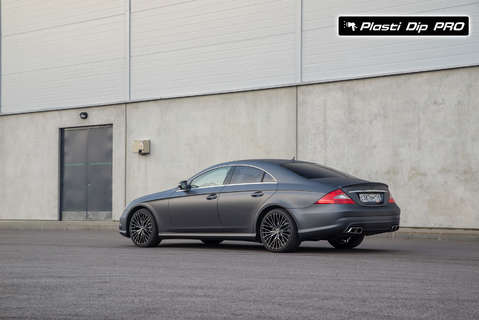 Mercedes CLS Plasti Dip цвет Black Betty