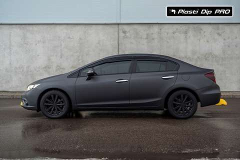 "Plasti Dip Honda Civic цвет ""Black Betty"""