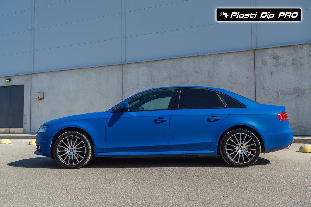 Plasti Dip цвет Flex Blue Audi A4 + Видео